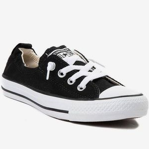 Converse black slip on shoes